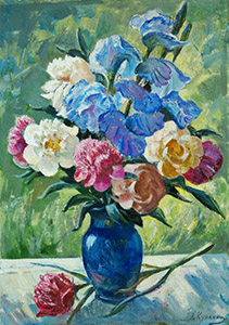 Peonies and irises