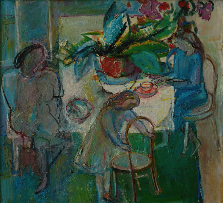 At the table, Sergey Antonov