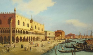 "Canaletto (1697-1768). ""Doge Palace"". The copy"