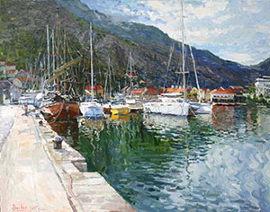 Port in Kotor. Montenegro