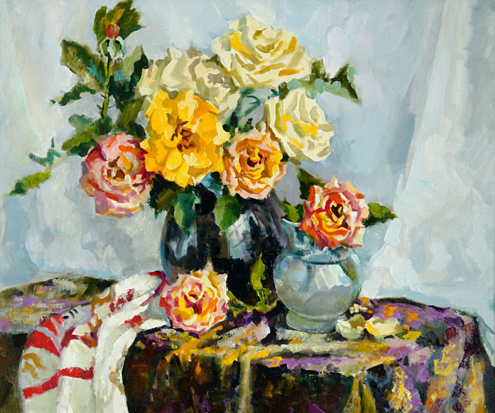 Still-life with roses, Valeri Izumrudov