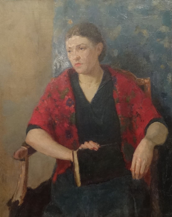 The woman's portrait (Smukrovich Peter Petrovich, 1926-1998), ArtRussia Collection