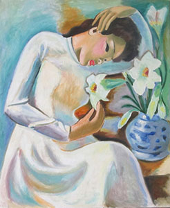 With lilies (by motive of To-ngoc-Van)