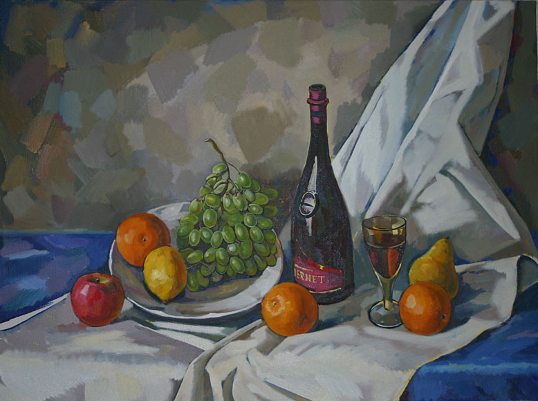 Still-life with fruits, Peter Stronsky