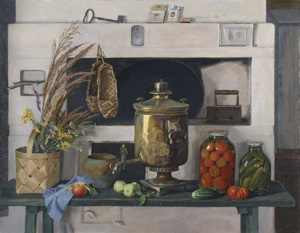 Still life at the Russian oven