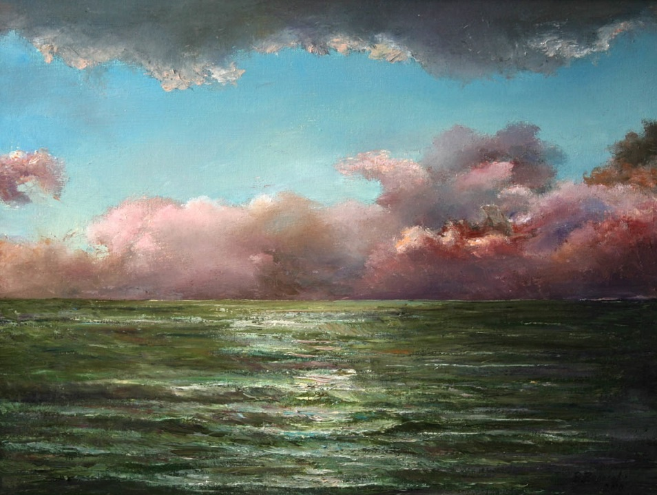Thunder-storm over the sea, Vladimir Volosov