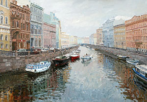 St. Petersburg. Quay of the river of the Moyka