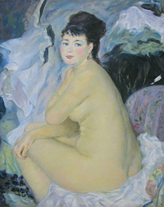 "Renoir, Pierre-Auguste (1841-1919) ""The sitting nude woman"" The copy"