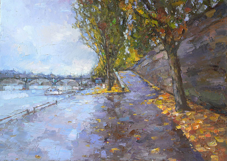 Raw cold day on the Seine, Alexi Zaitsev