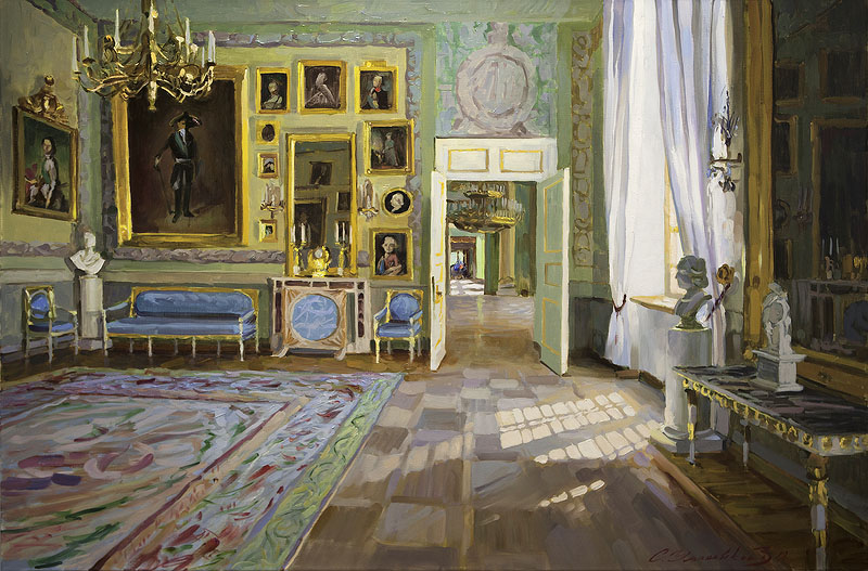 Spring sun in the Imperial Hall. Arkhangelskoe Manor, Sergey Ulyanovsky