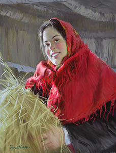 Girl in the red shawl