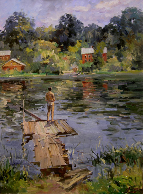 Summer in Old Ladoga, Eugeni Malykh