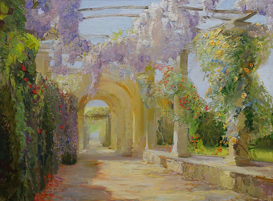 Wisteria at Heaver, Maria Sherbinina