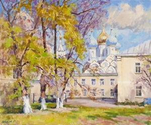 The courtyard in Ordynka. Moscow