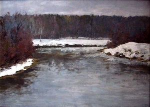 The River Klyazma. The first snow in November