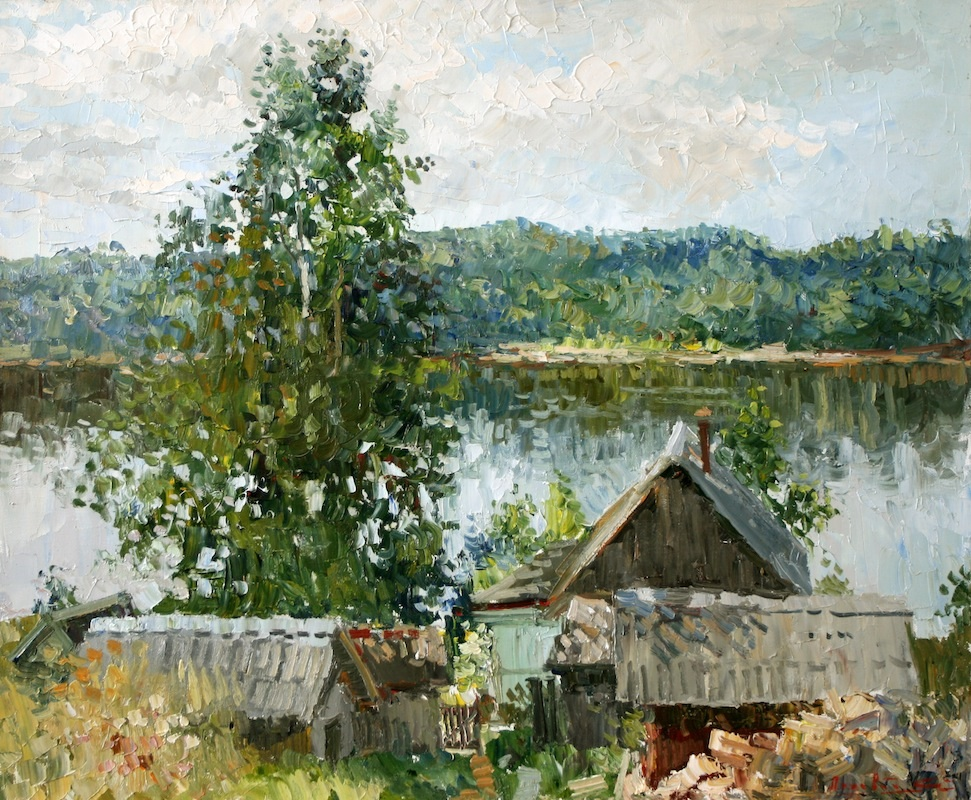 Small house at the river, Sergei Lyakhovitch