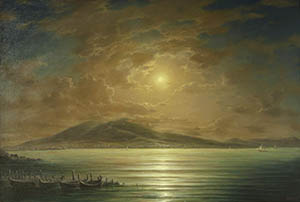 Gulf of Naples moonlit night