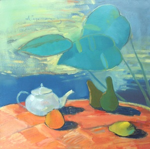 Still-life with the white teapot