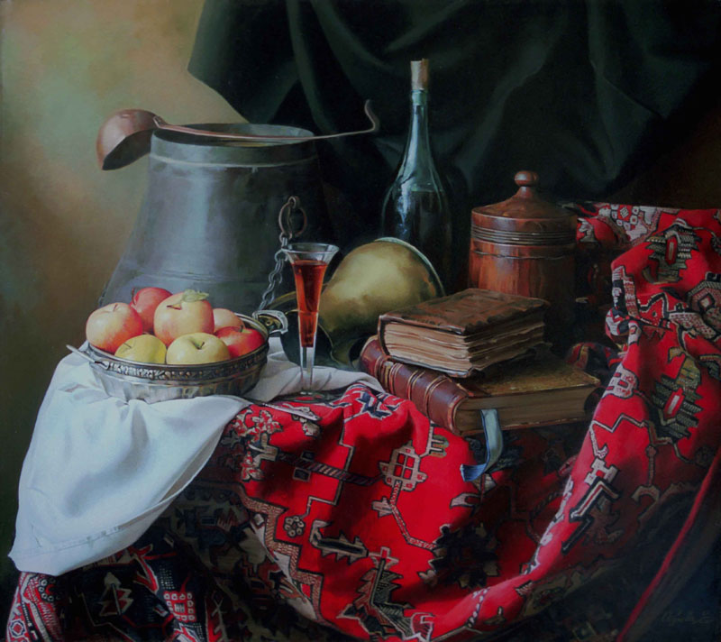 Still-life on red carpet, Elena Obukhova