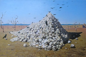 "Vereshchagin, Vasily (1842 - 1904) ""Deification of war"" Copy"