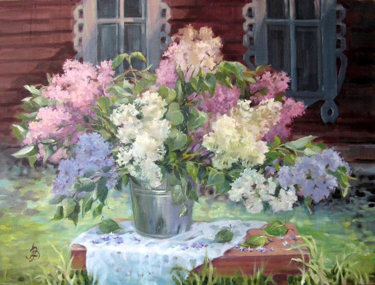 Lilac evening, Zinaida Vedeshina