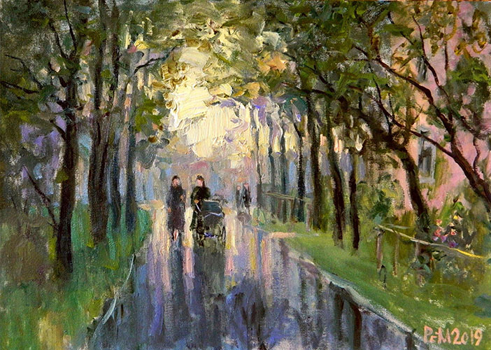 Street. After the rain, Rem Saifulmulukov