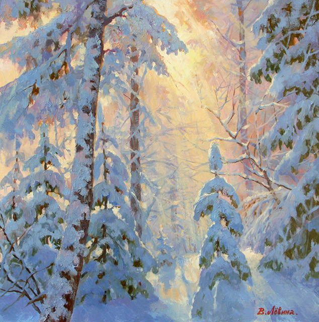 In the sunshine, a winter forest, Viktoria Levina