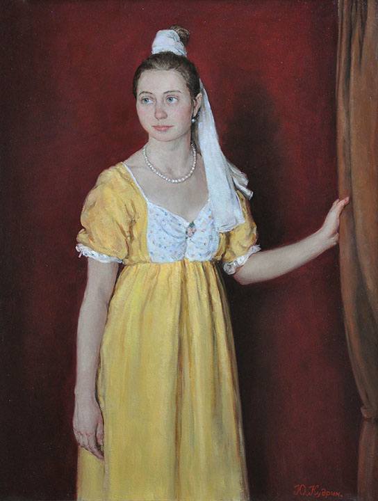 Girl in the yellow sarafan, Yuri Kudrin