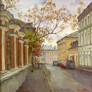 Autumn on the Basmannaya street. Moscow