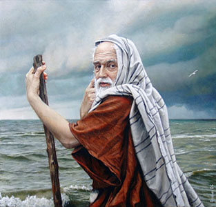 Moses at seashore