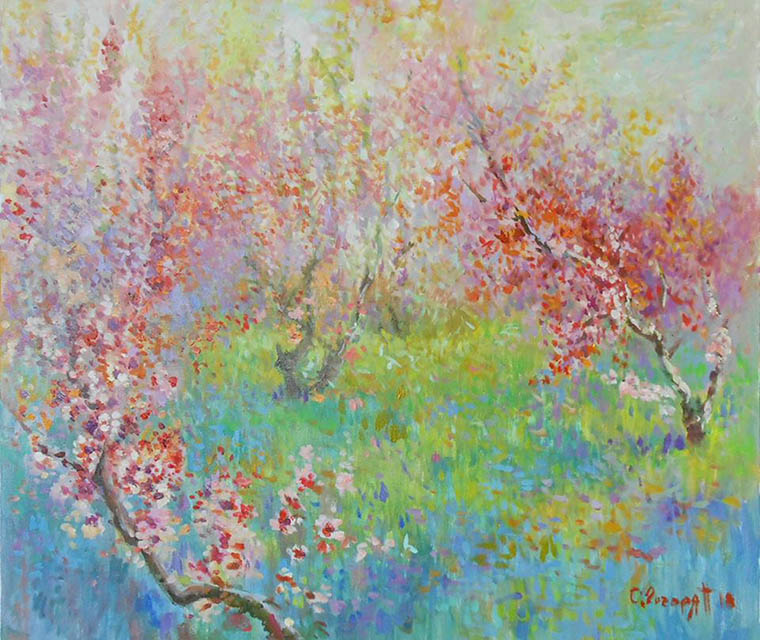 Peaches in bloom, Sarkis Gogorjan
