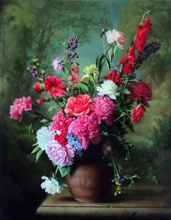 Still-life with peonies, Elena Obukhova