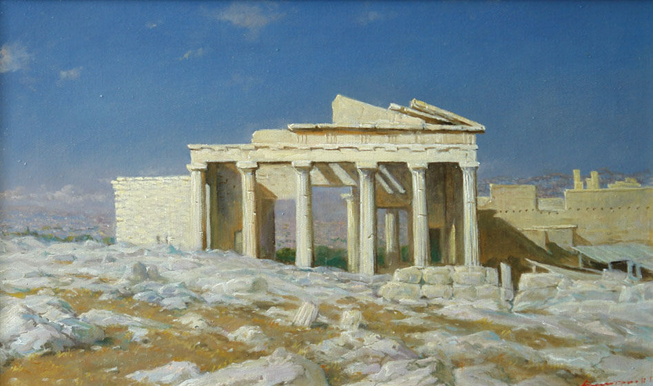 Morning. The Athenian Acropolis of Propylae, George Dmitriev