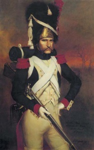 Portrait of a member of the military historical club A. Roschin