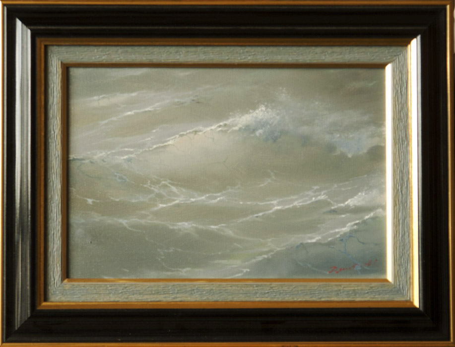 Among waves #1, George Dmitriev- inexpensive seascape painting, realism