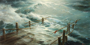 Storm, the old pier