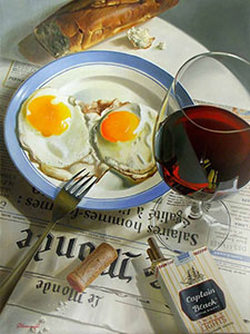Just fried eggs
