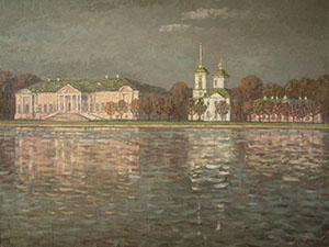 Kuskovo manor. Evening