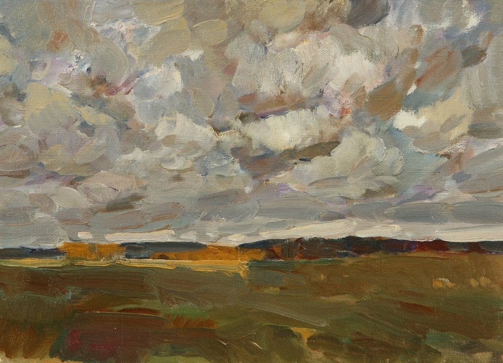 Autumn clouds, Yuri Konstantinov