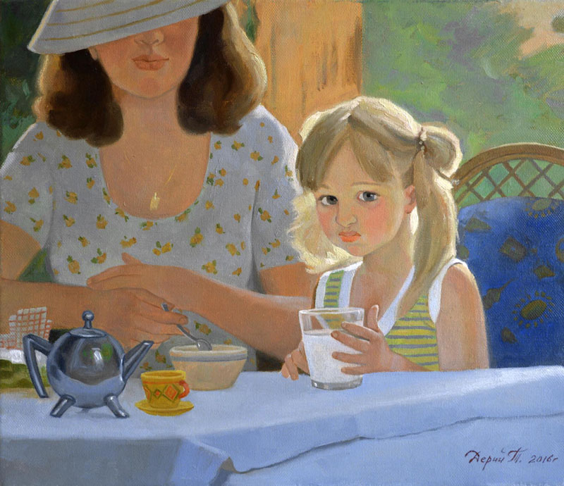 Glass of milk, Tatyana Deriiy