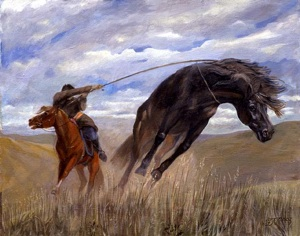 Catching of the Mongolian horse