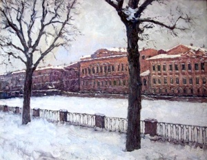 Winter in St. Petersburg. The River Fontanka