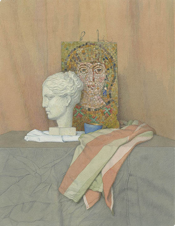 The head of Venus and the mosaic, Alexsandr Mukhin-Cheboksarsky