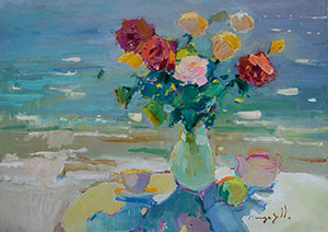 Roses near the sea