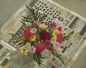 Flowers on Newspaper