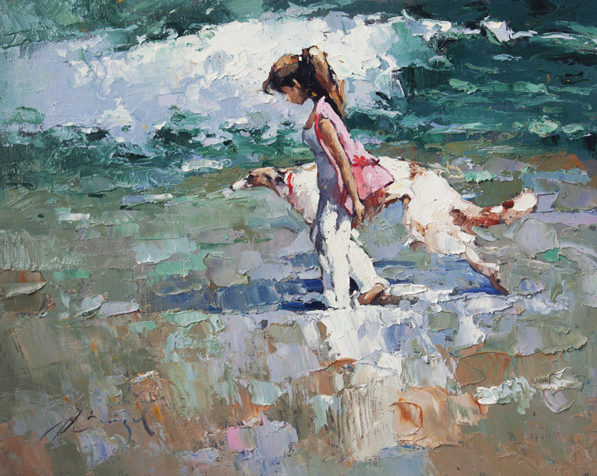 Walking on the beach, Alexi Zaitsev