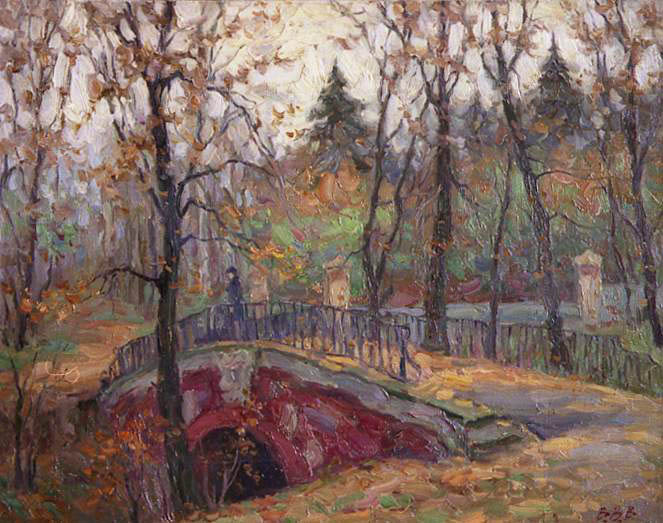 Autumn in Neskuchny park, Vyacheslav Voronin