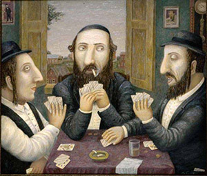 "Playing for high stakes. From the series ""Jewish happiness"""