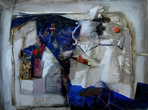 Still life with blue cloth