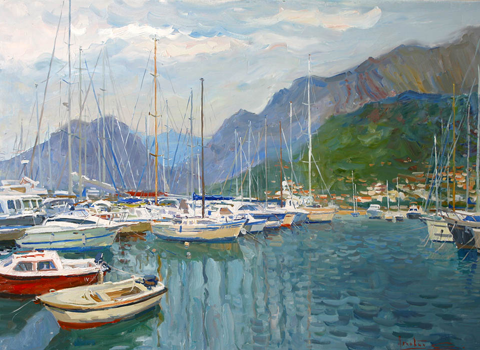The port in the city of Bar. Montenegro, Sergei Lyakhovitch